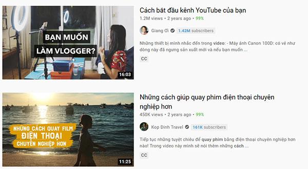 Hướng dẫn quay video trên Youtube