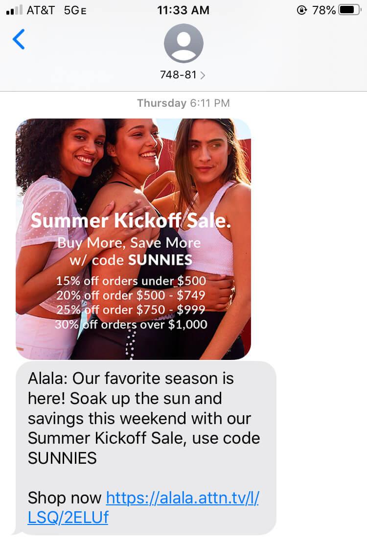 SMS Marketing từ Klaviyo