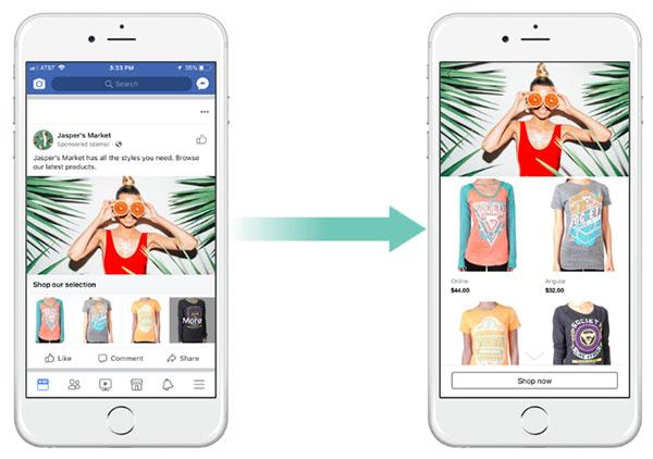Bộ sưu tập trong Facebook Dynamic Ads