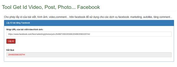 check ID bai viet Facebook