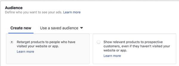 đối tượng dynamic ads facebook