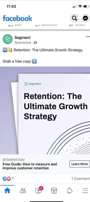 Facebook lead ads Segment