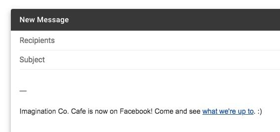 Giới thiệu Facebook qua Email