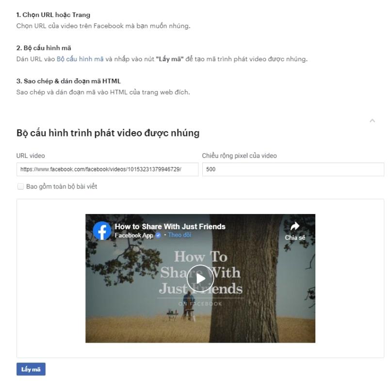 hướng dẫn chèn Fanpage Facebook vào website