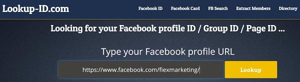 lay ID FB bang Lookup ID