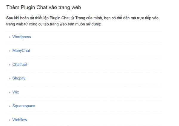 plugin chat Facebook wordpress