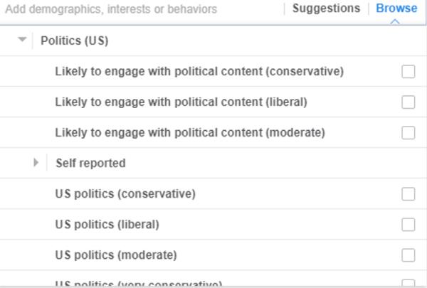Target quan điểm chính trị