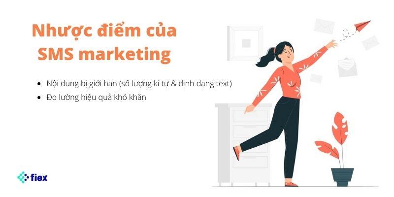 sms marketing nhược điểm