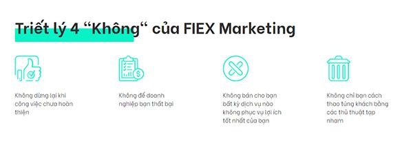 Triết lý 4 không FIEX Marketing