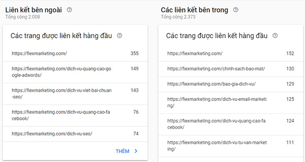 Google webmaster tool link